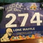 Photo of bib from Medoc Trail Races